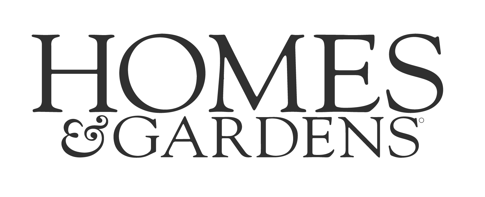 thinner image - home and gardens black logo