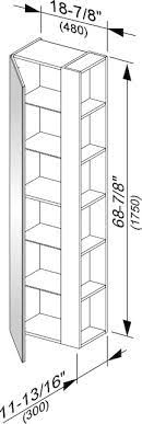 Keuco Plan Tall Cabinet with Open Shelving Plan drawing